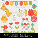 Easter One Embellishment Pack-$3.49 (Becky's Creations)