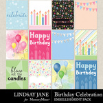 Birthday Celebration Journal Cards Pack-$2.49 (Lindsay Jane)