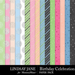 Birthday Celebration Glitter Paper Pack-$2.49 (Lindsay Jane)