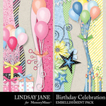 Birthday Celebration Borders Pack-$2.49 (Lindsay Jane)