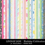 Birthday Celebration Paper Pack-$2.99 (Lindsay Jane)