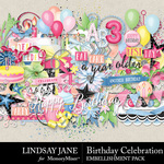 Birthday Celebration Embellishment Pack-$3.49 (Lindsay Jane)