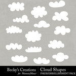 Clouds Embellishment Pack-$2.99 (Becky's Creations)