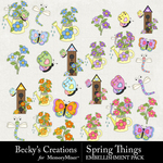 Spring Things Embellishment Pack-$4.99 (Becky's Creations)