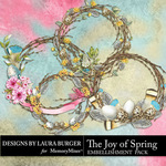 The Joy of Spring Wreathes Pack-$5.99 (Laura Burger)