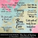 The Joy of Spring WordArt Pack-$4.99 (Laura Burger)