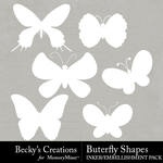 Butterfly Shapes Embellishment Pack-$2.99 (Becky's Creations)