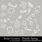 Doodle Spring Embellishment Pack-$2.10 (Becky's Creations)