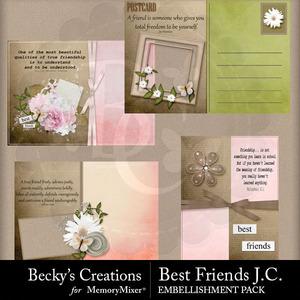 Best friends journaling cards medium