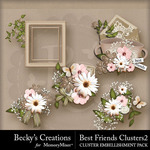 Best Friends BC Cluster Pack 2-$3.49 (Becky's Creations)