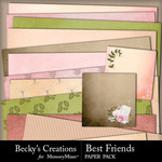 Best Friends BC Paper Pack-$3.99 (Becky's Creations)