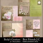 Best friends journaling cards small