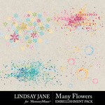 Many Flowers Scatterz Pack-$2.49 (Lindsay Jane)