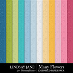 Many Flowers Embossed Paper Pack-$2.49 (Lindsay Jane)