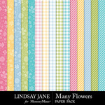 Many Flowers Pattern Paper Pack-$2.49 (Lindsay Jane)