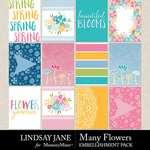 Many Flowers Journal Pack-$2.49 (Lindsay Jane)