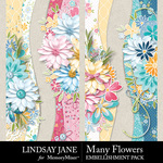 Many Flowers Borders Pack-$1.75 (Lindsay Jane)