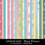 Many Flowers Paper Pack-$2.99 (Lindsay Jane)