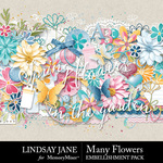 Many Flowers Embelishment Pack-$2.45 (Lindsay Jane)