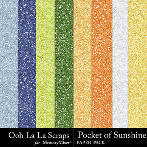 Pocket of sunshine glitter papers medium