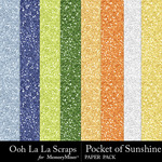 Pocket of Sunshine Glitter Paper Pack-$2.49 (Ooh La La Scraps)