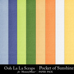 Pocket of Sunshine Embossed Paper Pack-$2.49 (Ooh La La Scraps)