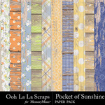 Pocket of Sunshine Worn Wood Paper Pack-$2.49 (Ooh La La Scraps)