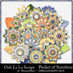 Pocket of Sunshine Flowers Pack-$2.49 (Ooh La La Scraps)