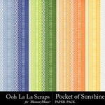 Pocket of Sunshine Pattern Paper Pack-$2.49 (Ooh La La Scraps)