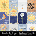 Pocket of Sunshine Pocket Cards Pack-$2.49 (Ooh La La Scraps)