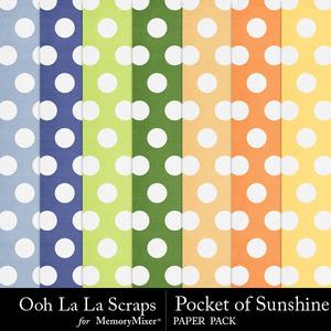 Pocket of sunshine polkadot papers medium