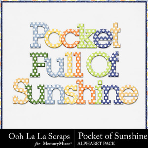 Pocket of sunshine alphabets medium