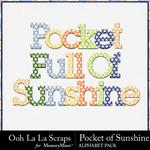 Pocket of Sunshine Alphabet Pack-$3.49 (Ooh La La Scraps)