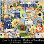 Pocket of Sunshine Combo Pack-$4.99 (Ooh La La Scraps)