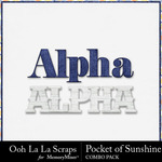 Pocket of sunshine kit alphabets small