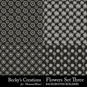 Flowers set three medium
