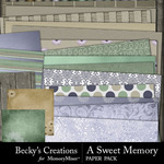 A Sweet Memory Paper Pack-$2.80 (Becky's Creations)