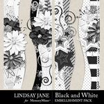 Black and White LJ Borders Pack-$2.49 (Lindsay Jane)