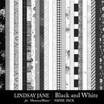 Black and White LJ Paper Pack-$2.99 (Lindsay Jane)