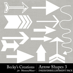 Arrow Shapes 3 Embellishment Pack-$2.10 (Becky's Creations)