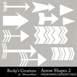 Arrow Shapes 2 Embellishment Pack-$2.10 (Becky's Creations)