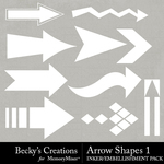 Arrow Shapes 1 Embellishment Pack-$2.10 (Becky's Creations)