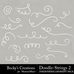 Doodle Strings 2 Embellishment Pack-$2.10 (Becky's Creations)