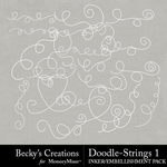 Doodle Strings 1 Embellishment Pack-$2.10 (Becky's Creations)