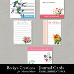 Journal Cards Embellishment Pack-$2.10 (Becky's Creations)