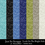 Look On The Bright Side Glitter Papers-$2.49 (Just So Scrappy)