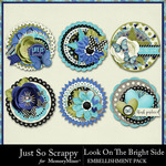 Look On The Bright Side Cluster Seals-$2.49 (Just So Scrappy)