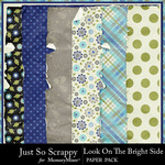 Look On The Bright Side Worn Papers-$2.49 (Just So Scrappy)