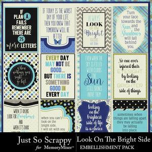 Look on the bright side pocket scrap cards medium