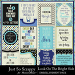 Look on the bright side pocket scrap cards small